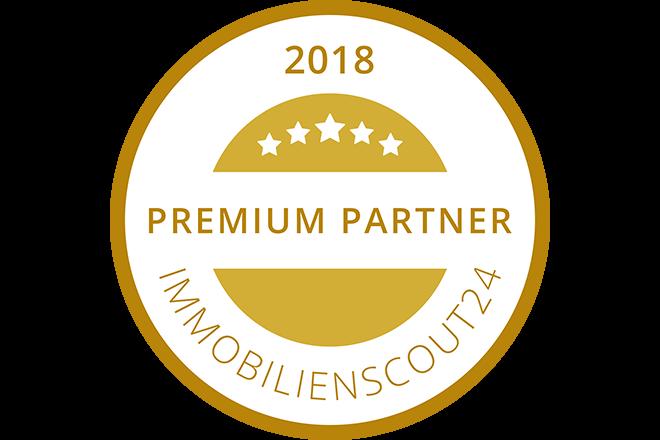 Zum vierten Mal in Folge sind wir von Immobilienscout24 als Premium-Partner ausgezeichnet worden.